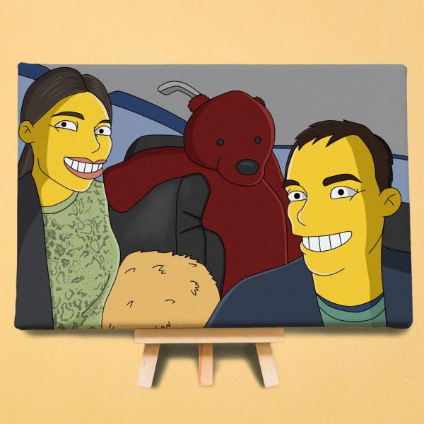 Обработка в стиле «Симпсоны»