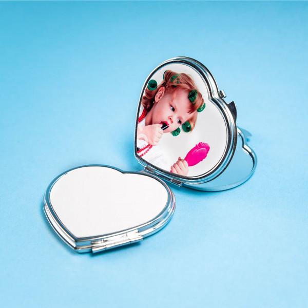 Зеркальце макияжное (сердце)