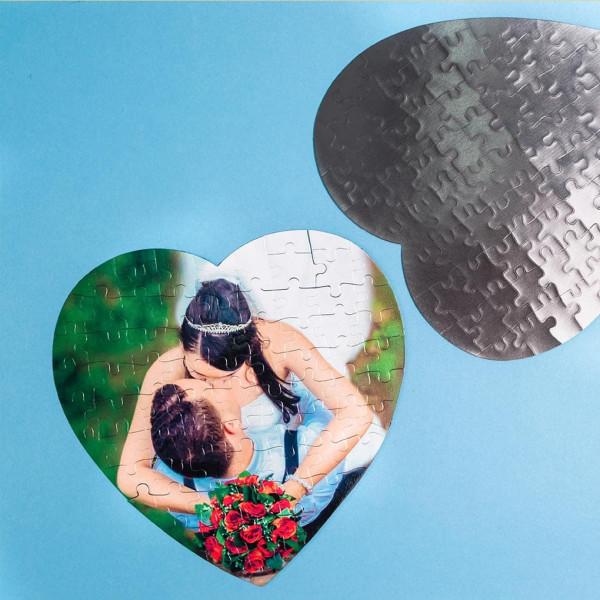 Фото на магнитном пазле (сердце)