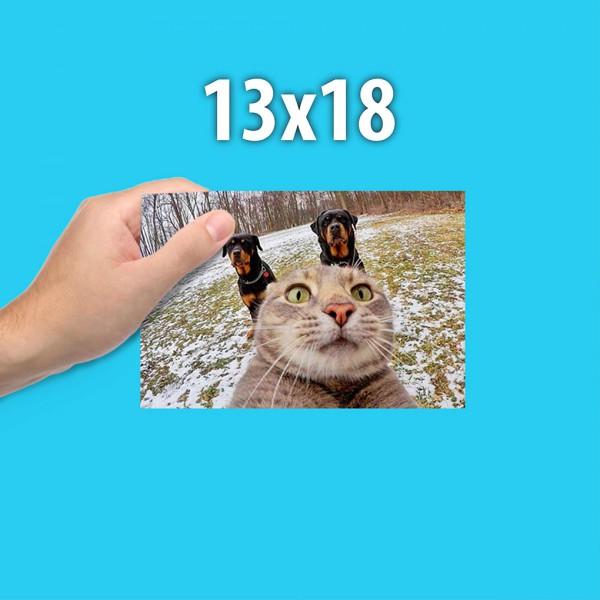 Печать фотографий 13 на 18 см